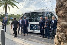Orlando's first driverless bus plies one-mile route in Lake Nona
